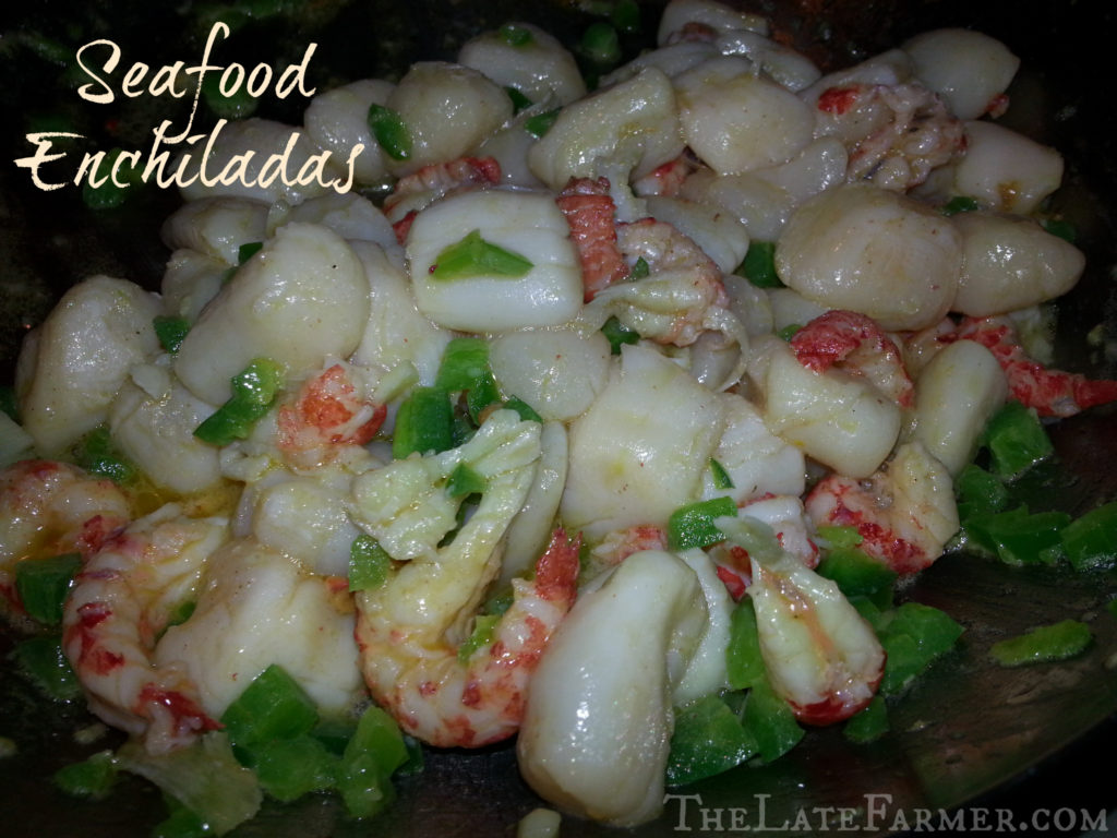 Amazing seafood enchiladas that are easy to make and very yummy! :)
