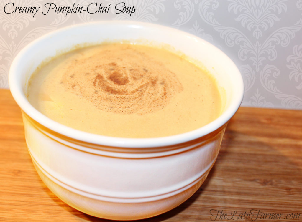 Creamy Pumpkin-Chai Soup