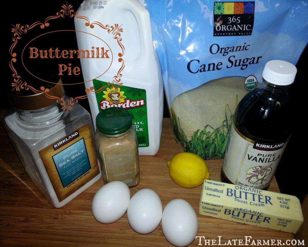 Buttermilk Pie - TheLateFarmer.com Recipe