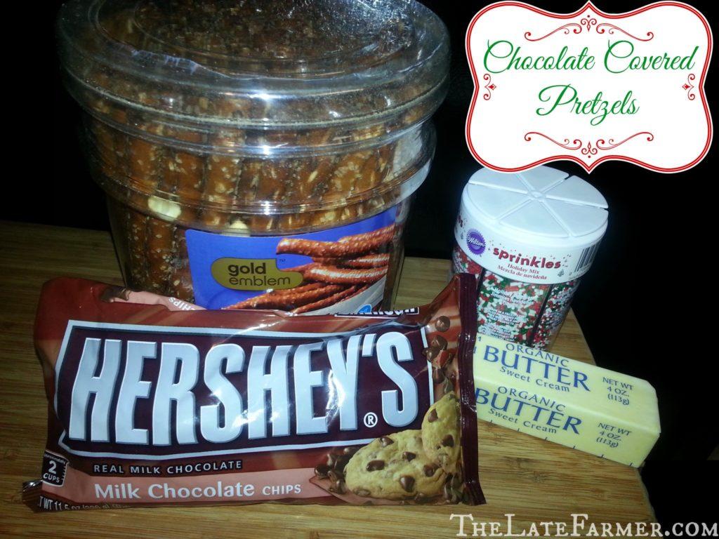 Chocolate Covered Pretzels - TheLateFarmer.com Recipe