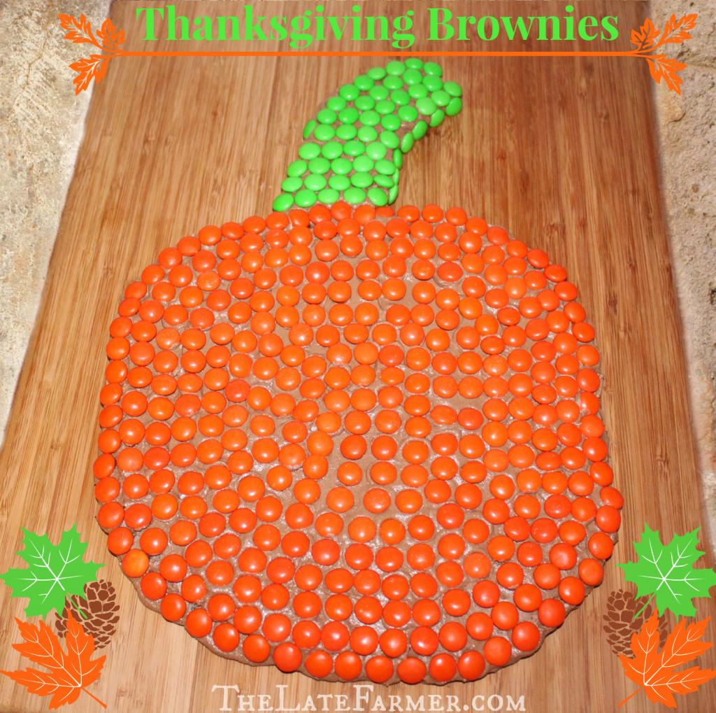 Thanksgiving Brownies - TheLateFarmer.com