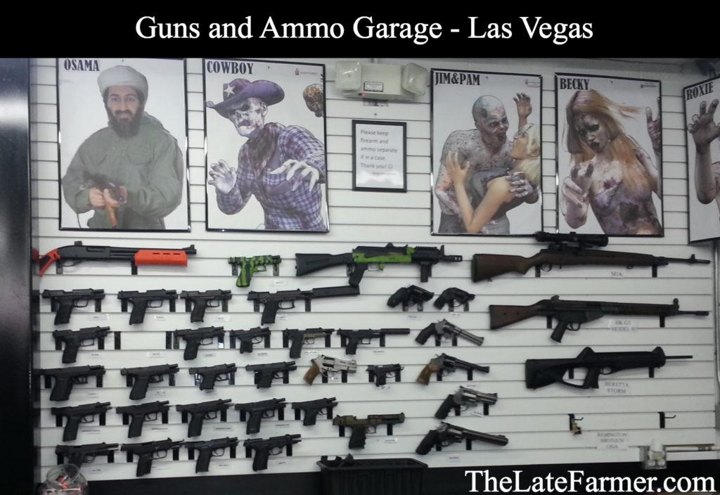 Guns and Ammo Garage - Gun Display - TheLateFarmer.com