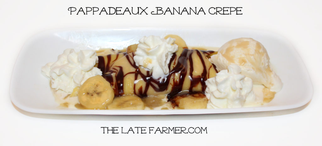 Pappadeaux Banana Crepe - TheLateFarmer.com
