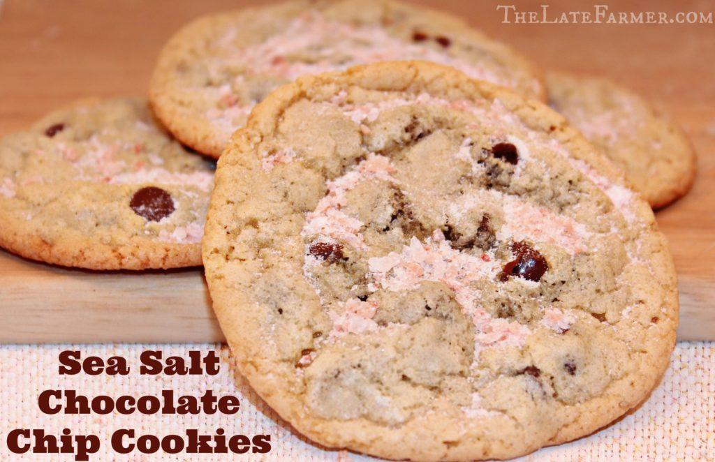 Sea Salt Chocolate Chip Cookies - TheLateFarmer.com