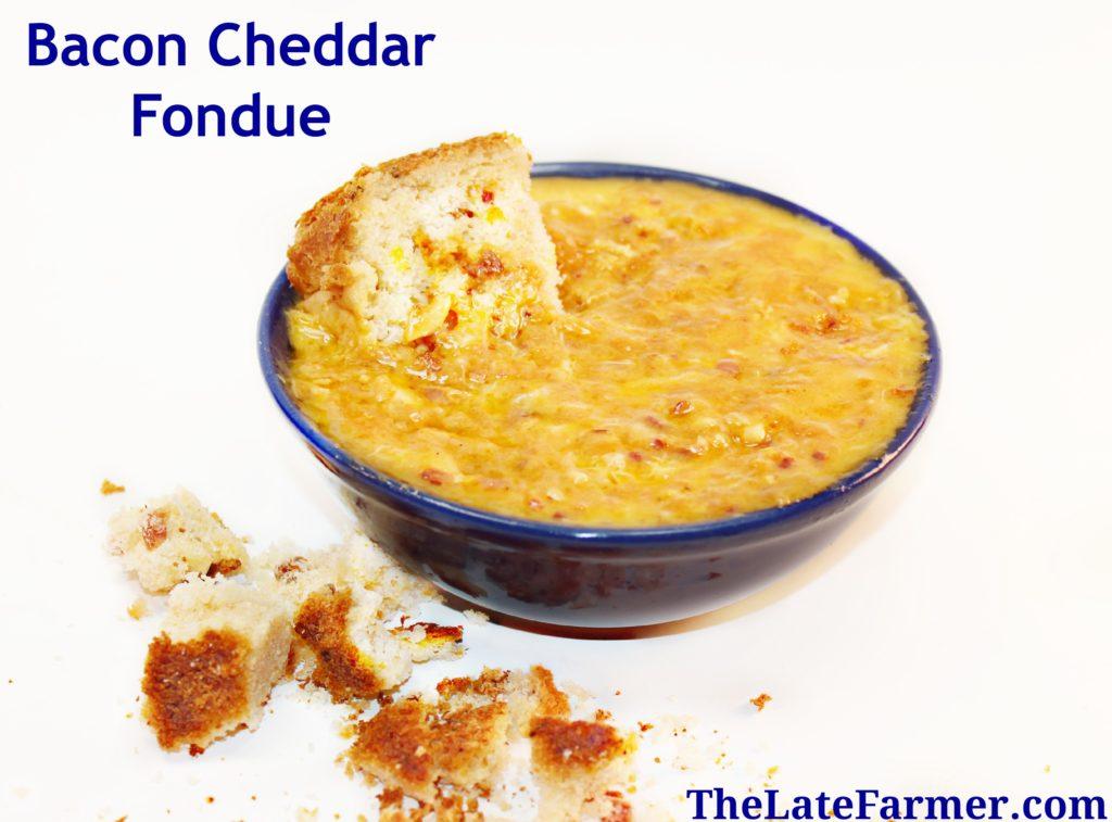 Bacon Cheddar Fondue