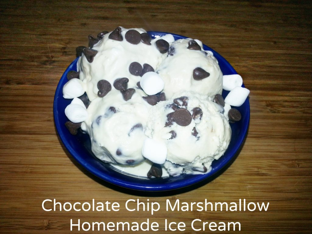 Chocolate Chip Marshmallow Homemade Ice Cream