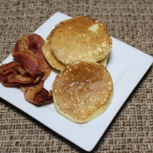 White Chocolate Silver Dollar Pancakes